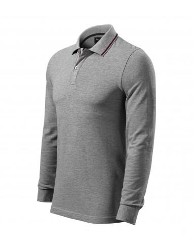Tricou polo pentru bărbaţi Contrast Stripe LS